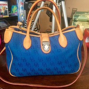 Dooney & Bourke Small Blue Double Handle Tote